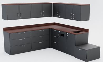 Picture of Modular Lateral and Storage Cabinets with Wall Mount Doors