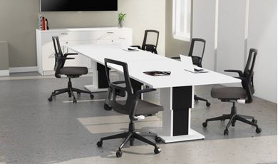 Picture of 12' Conference Table with Buffet Storage