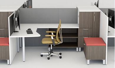 Picture of Set of 2, Private Desk Office Station