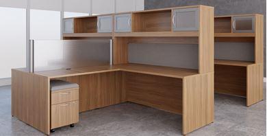 Picture of Four Person L Shape Desk Workstation