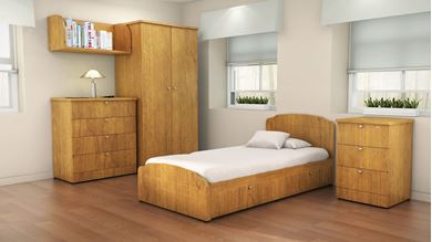 Picture of Healthcare, Dormitory Bed with Wardrobe and Dresser Storage