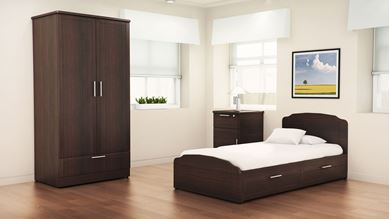 Picture of Healthcare, Dormitory Bed with Wardrobe and Bedside Table