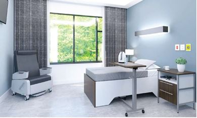 Picture of Healthcare, Dormitory Bed with Bedside Table and Recliner