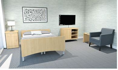 Picture of Healthcare, Dormitory Bed with Bedside Table