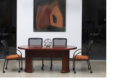Picture of 6' Racetrack Conference Table with Side Chairs