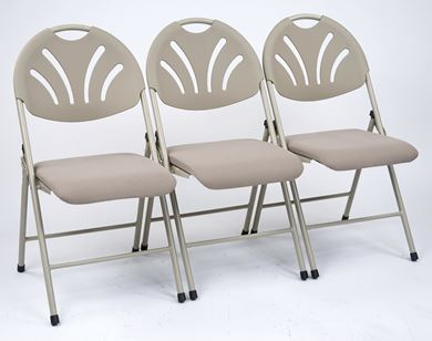 Picture of Pack of 4, Folding Chair with Fan Plastic Back