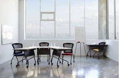 Picture of Nesting Flip Training Room Set, Table with Chairs