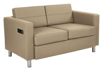Picture of Set of 2, 2 Seat Loveseat Sofa Charging Station
