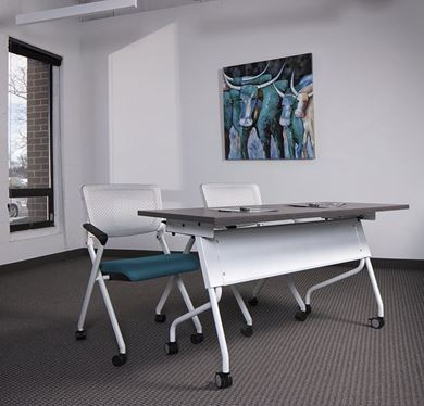Picture of 6' Flip Nesting Training Table with Nesting Chairs