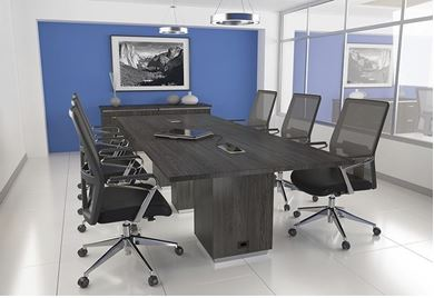 Picture of 10' Conference Table with Credenza and Seating
