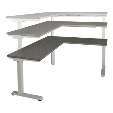 Picture of Pack of 3, L Shape Powered Height Adjustable Table