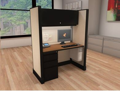 Picture of 4' Powered Cubicle Workstation