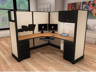 Picture of 6' x 6' Powered L Shape Cubicle Workstation