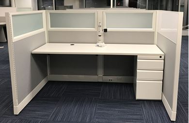 Picture of 6' Powered Straight Surface Cubicle Workstation