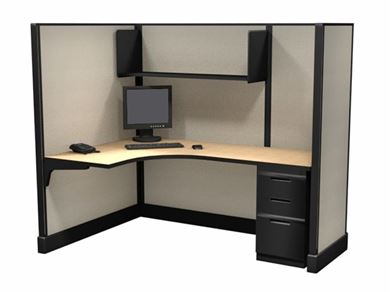 Picture of 6' x 4' Powered Cubicle Workstation