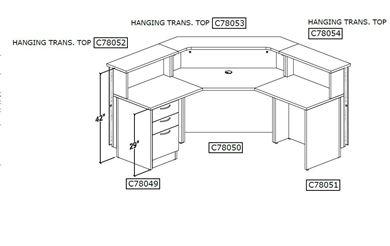 Picture of Curved Reception Desk Workstation