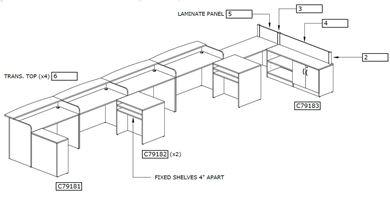 Picture of Reception Room Set Desk Workstation
