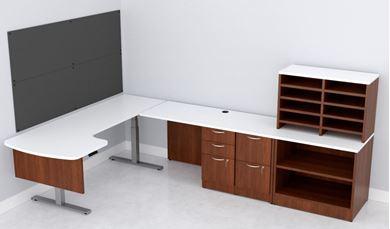 Picture of Powered Height Adjustable U Shape Desk Workstation