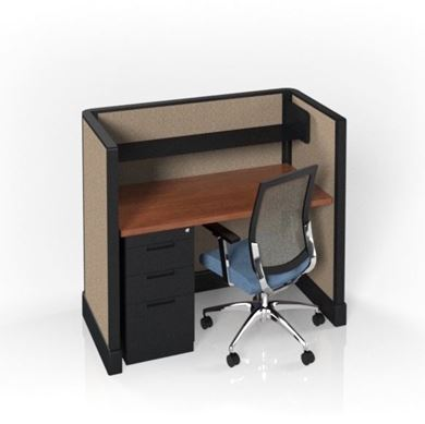 """Picture of Pack of 5, 48""""W Computer Cubicle Workstation"""
