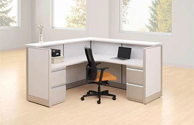 Picture of 6' Reception L Shape Cubicle Workstation