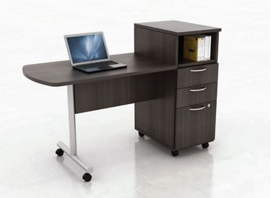 Picture of Set of 5, Mobile Instructor's Training Table with Filing Storage