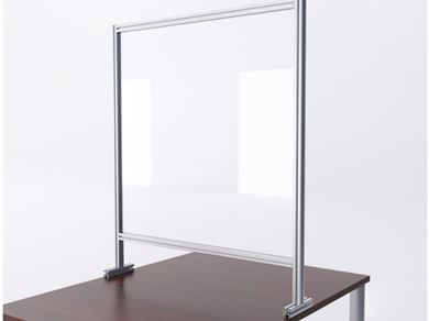 """Picture of Pack of 10, 24"""" Sneeze Guard Barrier Desk Shield"""