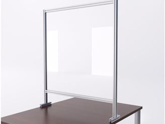 """Picture of Pack of 10, 48"""" Sneeze Guard Barrier Desk Shield"""