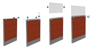 """Picture of Pack of 10, 42"""" Sneeze Guard Barrier, Panel or Desk Shield"""