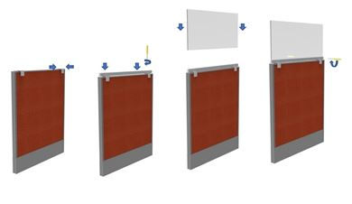 """Picture of Pack of 10, 48"""" Sneeze Guard Barrier, Panel or Desk Shield"""