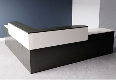 Picture of 10' Contemporary L Shape Reception Desk Workstation